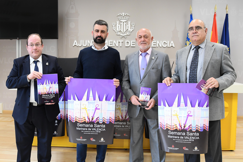 L'Ajuntament de València publica 48.000 quadríptics desplegables  per a la promoció de la Setmana Santa Marinera